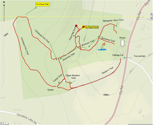 Nature Trails map for the Keep Homestead Museum