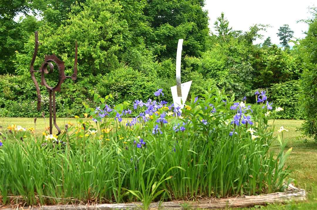 Sculpture in the Keep garden